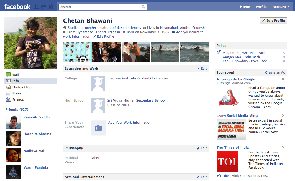 how to make a professional profile on facebook