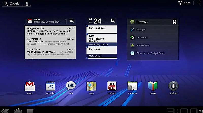 android honeycomb homescreen