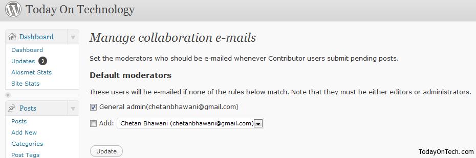 collaboration emails plugin