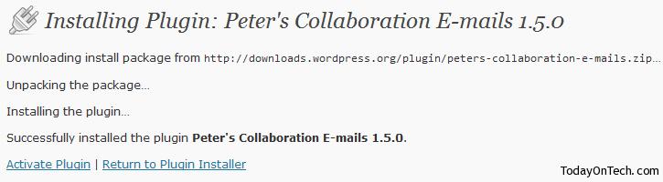 wordpress plugin installed