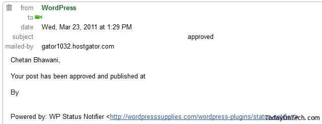 wp status notifier
