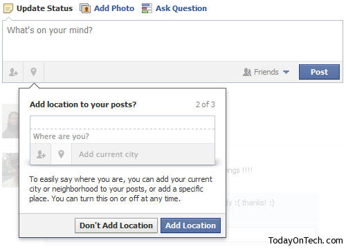how to add my name on facebook status