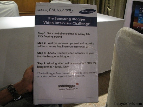 galaxy tab video interview contest