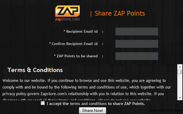 zapstore share points
