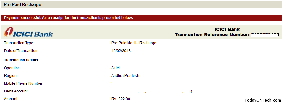 vodafone message card recharge by phone