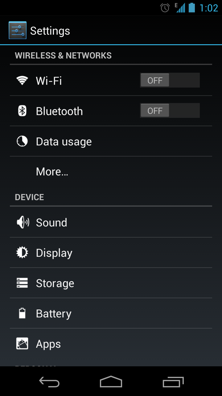 apua imobile apn settings