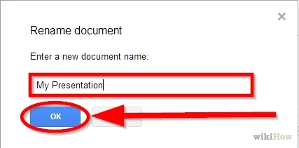 how to create a presentation in google docs