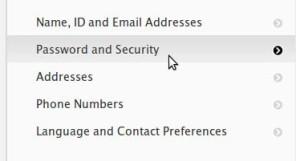 Changing Apple Password
