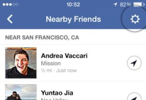 Turn off Nearby friend feature iphone