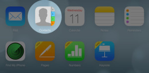 Contacts in iCloud