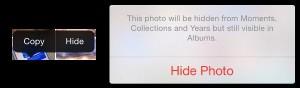 Hide Some Photos