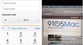 Scan Credit Card Details