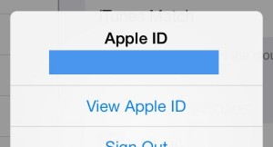 Viewing Apple ID
