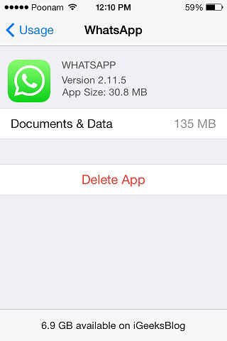 How to remove other data from iphone ipad and ipod touch gadgets delete whatsapp cache ccuart Images