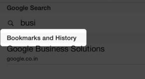 Search Safari History and Bookmarks